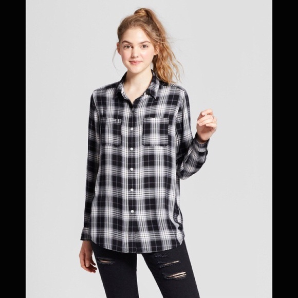 b6971b64c Mossimo Supply Co. Tops | Mossimo Boyfriend Fit Plaid Button Down ...
